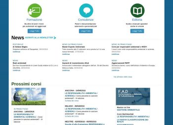 TuttoAmbiente - home page versione desktop
